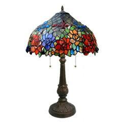 ランプ  ステンドガラスのテーブルランプ TL201