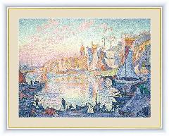 サン=トロぺの港 シニャツク 絵 額絵 絵画 −BM090