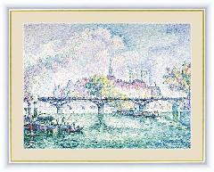 絵 絵画 額絵 フランスの画家シニャツクのポンデザール −BM091