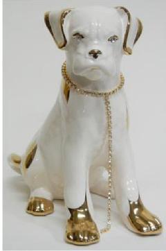 ボクサー 犬 イタリア製 陶器  IMA−M4-802CA