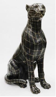 レオパード  犬 イタリア製 陶器  IMA−M4-1843NQ