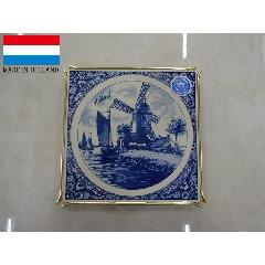 おしゃれなオランダ製 陶器 鍋敷き タイル 風車 おしゃれ レトロ 置物 アウトレット BZ-11