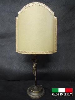 イタリア製ランプ テーブルランプ 照明 卓上ランプ レトロ 女性 銅像 クラシック 高さ調整 9359