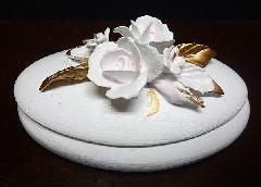小物入れ ジュエリー入れ リンクフォルダー 陶器 イタリア製 ホワイト