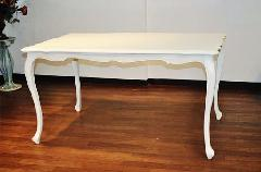 猫脚テーブル アイボリー ロココ調 おしゃれ 長方形 アウトレット140cm