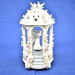 オルゴール 陶器 リアドロ風 結婚お祝い 贈り物 プレゼント ウェディング