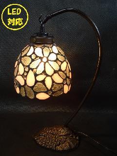 LED電球対応 テーブルランプ 葡萄 ステンドグラスランプ かわいいランプ 171E
