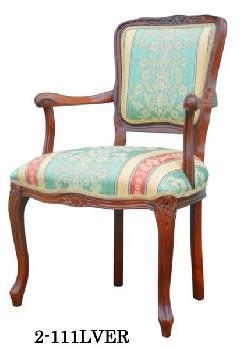 イタリア製 ヨーロピアンスタイルのアームチェア リビングイス 応接用椅子  111LVER