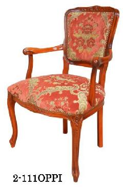 イタリア製 ヨーロピアンスタイルのアームチェア リビングイス 応接用椅子 111OPPI