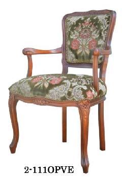 イタリア製 ヨーロピアンスタイルのアームチェア リビングイス 応接用椅子 111OPVE