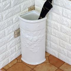 ポルトガル製、陶器の傘立て コーナー傘立て7009A-W