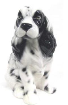 コッカスパニエル 犬 イタリア製 陶器  H6-26SWWS
