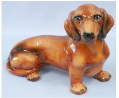 ミニチュアダックスフンド 犬 イタリア製 陶器  H6-34RB