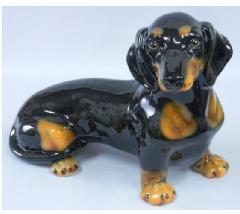ミニチュアダックスフンド 犬 イタリア製 陶器  H6-34DB