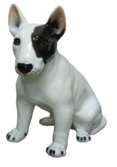 ブルテリア 犬 イタリア製 陶器  H6-59