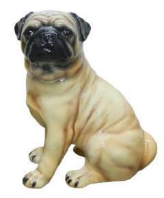 パグ 犬 イタリア製 陶器  H6-58