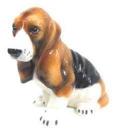 バセット 犬 イタリア製 陶器  H6-40
