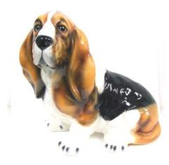 バセット 犬 イタリア製 陶器  H6-56