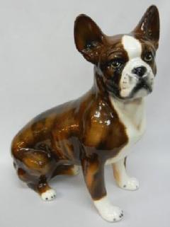 フレンチドッグ 犬 イタリア製 陶器 輸入陶器 イタリア小物 ヨーロピアン  H6-8369T
