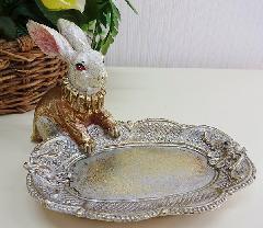 ウサギのトレイ、小物、アクセサリー入れ  931-BZ-632