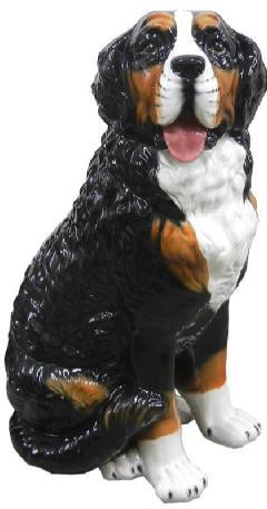 豪華な動物の置物 バーニーズマウンテン 陶器 イタリア製 インテリア ガーデン 置物 オブジェ--181