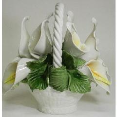 陶花 イタリア製ハンドメイド 輸入雑貨 陶器 造花 花 プレゼント オブジェ 置物 素敵  ギフト 贈り物 140