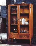 クラシカルなイタリア家具の本棚 書棚 飾り棚 123-KM-4304