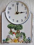 ドイツのセラミック時計 ニワトリ 2522