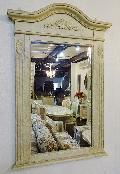 白家具 アンティークホワイトミラー 鏡822S-1