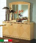 イタリア 輸入家具  サイドボードミラー  鏡面仕上げ