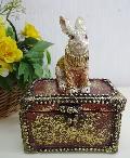 ウサギの小物入れ ジュエリーボックス 931-BZ-271