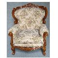 処分特価  豪華なフレームでゴブラン織りのアームチェア 1人掛けソファー 0380