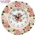 おしゃれな薔薇の壁掛け時計 TAB711