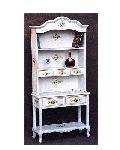【展示現品売り尽くし】オープン飾棚 キュリオケース135 輸入家具 ホワイト家具 白家具 猫足