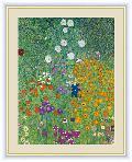 農家の庭  世界の名画 絵 絵画 額絵 クリムト  G4-BM074