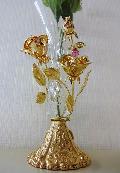 一輪挿し フラワーベース 薔薇 バラ スワロフスキー クリスタル 花瓶 オーナメント 母の日 プレゼント ギフト 12045