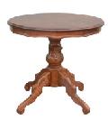 イタリアのネコ脚テーブル 丸い80cmのダイニングテーブル R3-R80NB