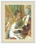 ピアノに寄る少女たち 世界の名画 ルノワール  G4-BM033