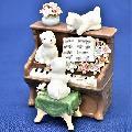 オルゴール 陶器 リアドロ風 結婚お祝い 贈り物 プレゼント スリードッグウィズピアノ