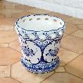 ポルトガル製陶器のプランター 植木鉢 穴あき 鉢カバー PFA-595W