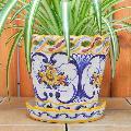 ポルトガル製陶器のプランター 植木鉢 穴あき 鉢カバー 594Y
