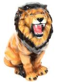 豪華な動物の置物 陶器 ライオン  イタリア製 インテリア ガーデン 置物 オブジェ--76