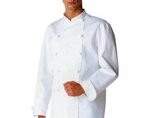 コックコート(長袖、白  綿100%)