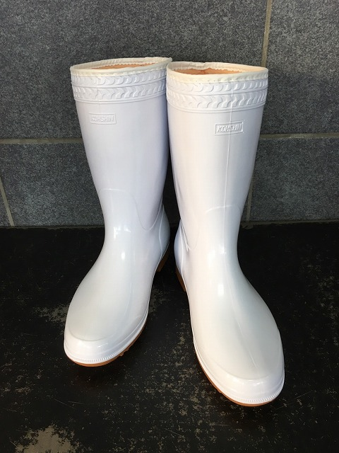 防寒ゾナ耐油長靴P(白)パイルボア裏