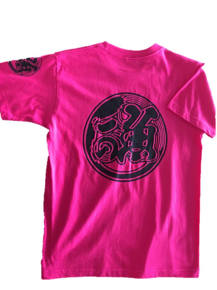 魚河岸プリント入りTシャツ(ホットピンク)半袖