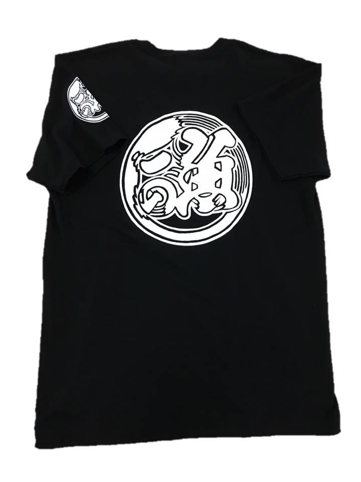 魚河岸プリント入りTシャツ(黒)