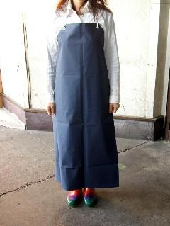 ビニロン胸付防水前掛   大寸(紺) 日本製
