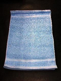 100匁カラーおしぼり12枚 (アクアブルー)   日本製