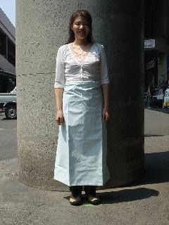 ワンタッチ防水エプロン 腰下(白)日本製