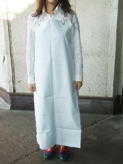 ビニロン胸付防水前掛   大寸(白) 日本製